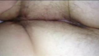 Wifes Long Hairy Pussy, Hairy Asshole, Asscrack On Her Belly