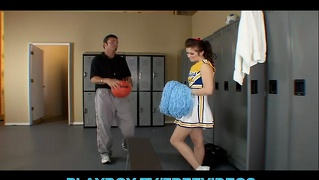 Slutty Brunette Cheerleader Fucks The School Coach