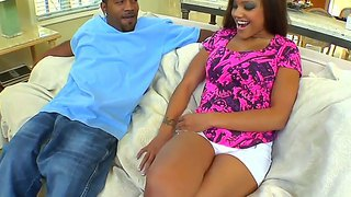 Black Catalina Taylor Loves Huge Dick On Her Tight Pussy.