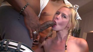 Petite Blonde Tara Lynn Foxx Gets Gang Banged Hard In Her Mouth By Three Huge Dicks