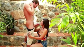 Ava Alvares Munches The Balls Of James Deen