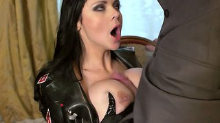 Busty Anastasia Brill In Uniform Fucking The Piston