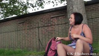 Sarah Janes Public Dildo Masturbation And Pussy Flashing