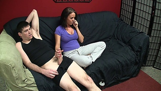 Casual/Ignored Sex Fetishism - Handjob While On Phone