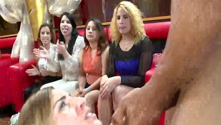 Euro Cfnm Party With Voyeurs Watching Babes Sucking