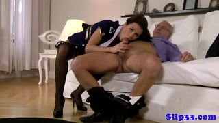 Classy Euro Babe Pleases Old Man