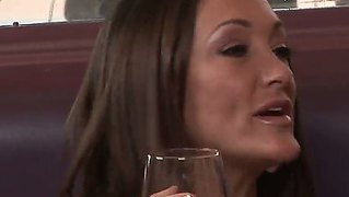 Three Milf Whores, Including The Nica Noelle, Sits And Drink Cocktails And Then Comes The Rocco Reed