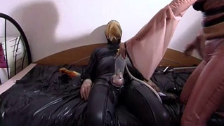 German Sex Freaks In Latex Outfits In Bizarre Fetish Sex Scene