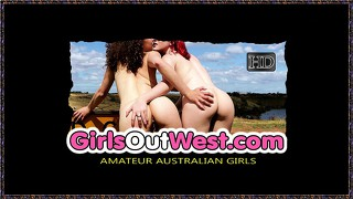 Girls Out West - Franky Grinds Her Hairy Cunt