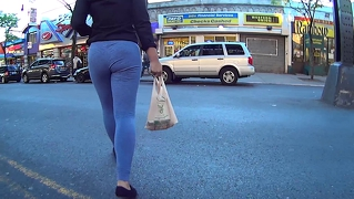 Young Woman Wearing Leggings