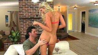 Voluptuous Smoking Hot Blonde Babe Alysha Rylee Dancing In The Sheets With Preston Parker