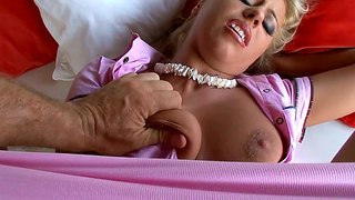 Sizzling Blonde Nikky Thorn Gets Her Ass Ravaged And Thorned