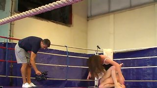 teenage nude naked females fighting at fight club