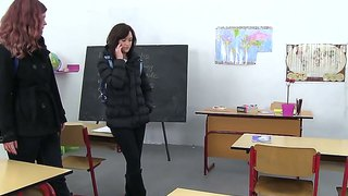 Young Babe Klara C And Her Horny Classmate