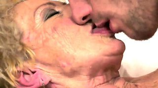 Crazy Granny Named Malya Gets A Young And Hot Cock In Her Hairy Pussy