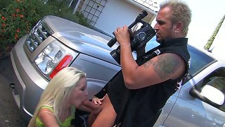 Stevie Shae Gets Seduced Into Deep Blowing This Guy's Huge Cock While Being Filmed