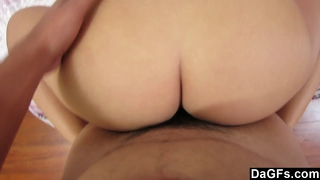 Real Girlfriend With A Fat Ass Covered In Jizz