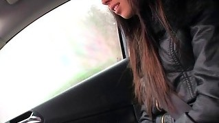 Slutty Gina Likes To Fuck Random Guys With Car And