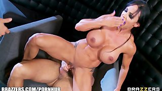 Busty Bartender Jewels Jade Is Gangbanged By Three Customers