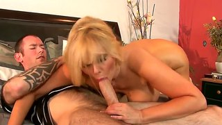 Awesome Mother In Law Swallows And Rides That Yummy Cock