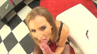 Slim Slut Jennifer C Gives Head To Omar Galanti