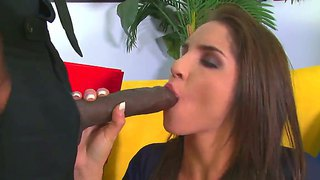 Long Haired Girl Giselle Leon Tastes Huge And Fat Black Cock By Sean Michaels