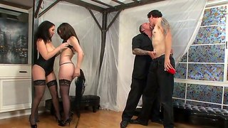 Two Bisexual Couples Engage In The Group Sex