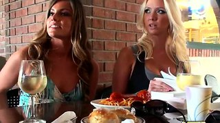 Molly Cavalli And Nikkie Johnson In The Italian Restaurant