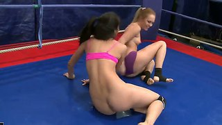 Welcome To The Fight Club With Depraved Lesbian Chicks Blue Angel And Ruth Medina