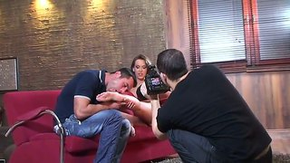 Hot Couple Brandy Smile And Kitty Cat Have Sweet Time In The Behind The Scenes Movie