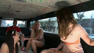 Bang Bus Ride With Three Voluptuous Hotties