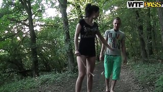 Wild Whore Yasmine Is Making Deepthroat Blowjob In A Forest