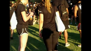 Big Ass Blonde In Leggings At Concert