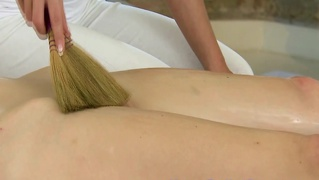 Model Massage For Lesbian During Her Session With Lesbian