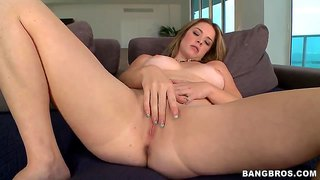 Busty Brunette Sierra Sanders  Sucks Cock In Pov