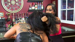 Two Beautiful Lesbian Babes Kiara Mia And Gorgeous Chick Nina Mercedez Licking Each Other Out