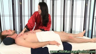 Sexy Masseuse Sucks Hard Client Cock