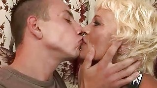 Hot Granny Enjoys Hard Sex With A Boy