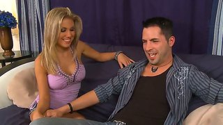 Kris Slater Manages To Seduce Blonde Hotie Aubrey Addams Into Hard Fucking With Him