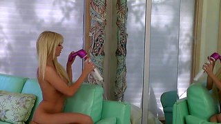 Jana Jordan Kills Time Fingering Her Slit