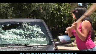Off Ex-Gf Is Punished For Smashing Her Man's Car
