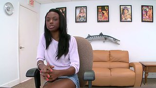 Attractive Chocolate Babe Tiffany Tailor Succeed In Hardcore Sex Interview