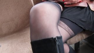 Black Stockings In A Bus