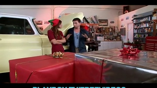 Cute Teen In A Costume Seduces Her Mechanic For A Discount