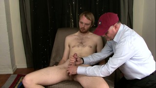Str8 Stoner Boy Nate Is Surprised When I Jack His Cock And Then Suck Him Off.