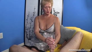 Mature Slut Jerks A Big Cock