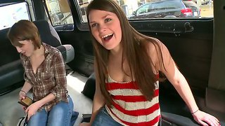 Abby Cross And Nickey Huntsman Get On The Bangbus