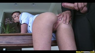 Kylie Gets Her Pussy Rammed From Behind  Bent Over Over The Dining Table.
