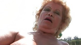 Teen Fucking Ugly Old Bitch Outdoor