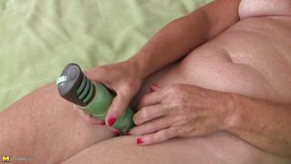 Blonde Mature Plays With Her Vibrator